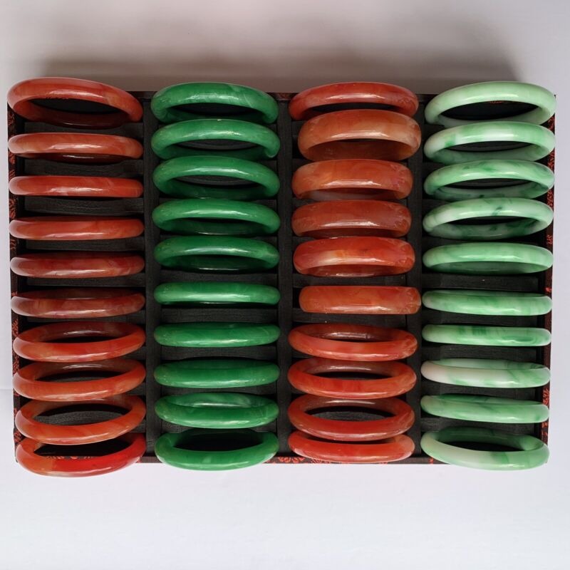 wholesale lots Jade Bangle (lot Of 40) With The Case