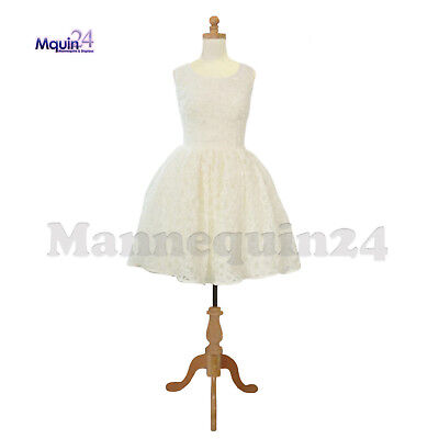 Kids Body Form Mannequin 11-12 Yr Child Torso Dress Form With Wooden Base