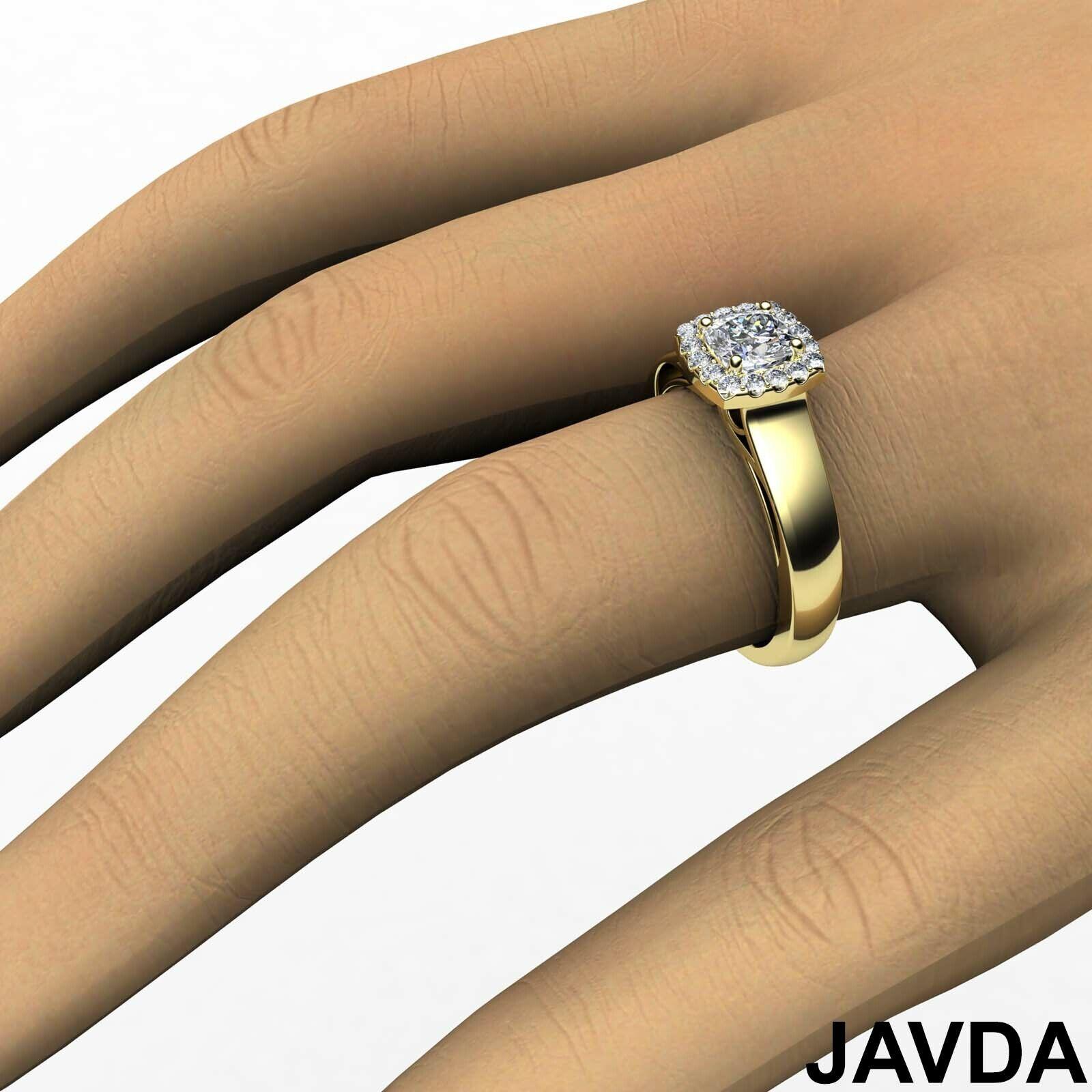 Filigree Shank U Cut Prong Cushion Diamond Engagement GIA H Color VS1 Ring 0.7Ct 7