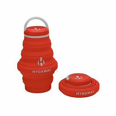 New Hydaway Travel Leakproof Collapsible Water Bottle Sunset 18oz for Backpack Leak Proof Backpack Bottle