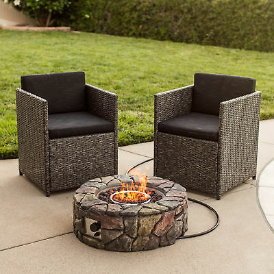 BCP Stone Devise Fire Pit Outdoor Home Patio Gas Firepit