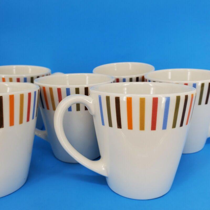 JONATHAN ADLER ITALIA HAPPY HOME Coffee Mugs Set of 6