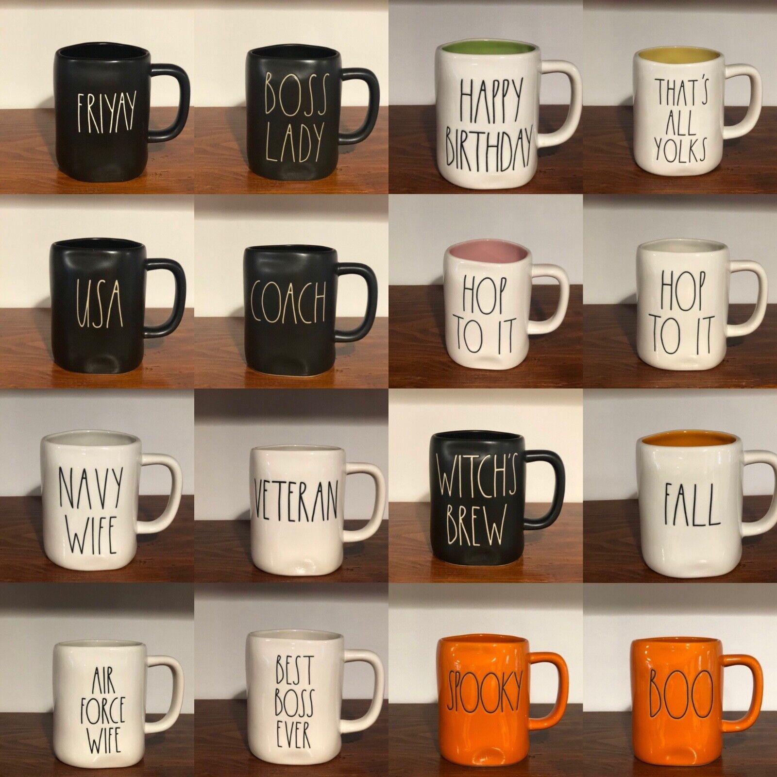 Rae Dunn Artisan Collection By Magenta Farmhouse LL Large Letter Coffee Tea Mug HOT MESS