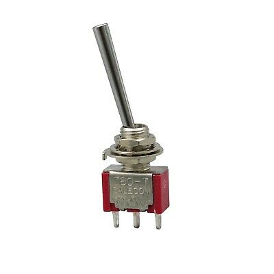 2pcs Sh T8013-webq Long Handle On-on Maintained Mini Toggle Switch 3pin Spdt