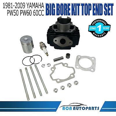 Yamaha PW 50 PW50 Big Bore Kit Top End 60cc Piston Cylinder Rings 1981-2009