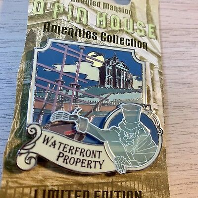 Disney DLR Haunted Mansion O'Pin OPin House Hatbox Ghost Waterfront LE Pin NEW