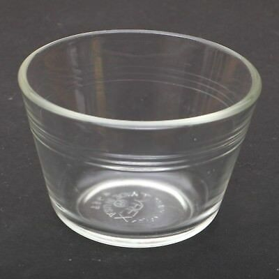 Pyrex 3 Ring Clear Glass H17 Fluted Custard Baking Ramekin Bowl
