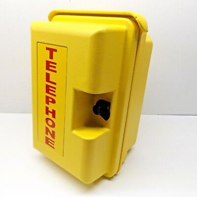 VIKING VE-9X12Y-1 HEAVY DUTY YELLOW OUTDOOR TELEPHONE ENCLOSURE -MISSING ADAPTER