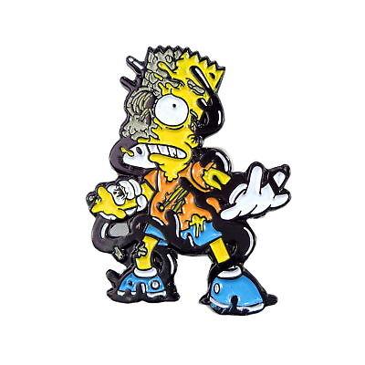Zombie Bart Treehouse of Horror Alt Art Hat Pin Lapel