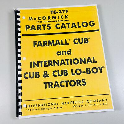 Farmall Cub International Cub Lo Boy Tractor Parts Manual Catalog Mccormick