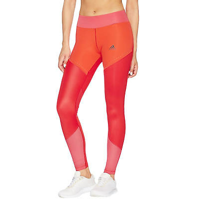 NWT $90 adidas Performance Womens Wow Drop Climalite Leggings Tight Coral XL
