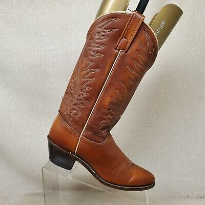 Acme Brown Leather Cowboy Western Boots Womens Size 7 C Style 13965