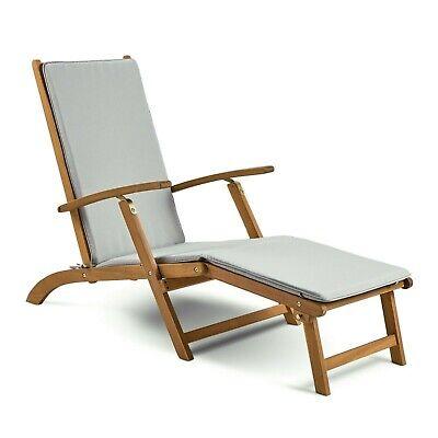 VonHaus Steamer Chair With Cushion