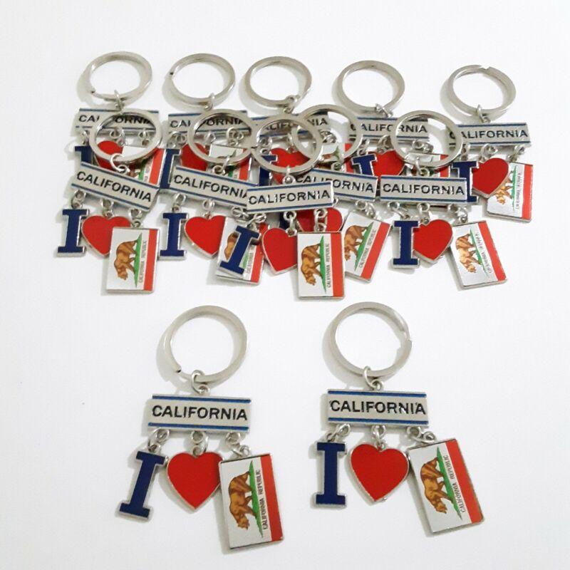 12 I Love California Keychain Charm Party Favors Souveniers Giveaways Recuerdos