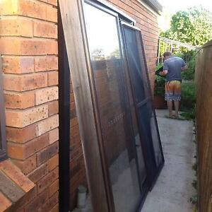 Aluminum glass sliding doors with timber surrounds Bligh Park Hawkesbury Area Preview