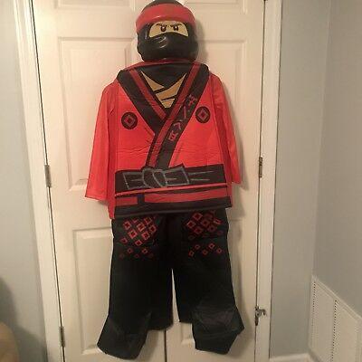 Lego Ninjago Red ninja Child Costume size L 10/12 - Red Ninja Costume