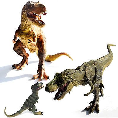 Set of 3 Tyrannosaurus Rex Dinosaurs Figures Kids Toys Large / Baby T-Rex Family