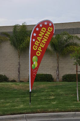 Grand Opening 14ft Teardrop Flag Set Feather Flag