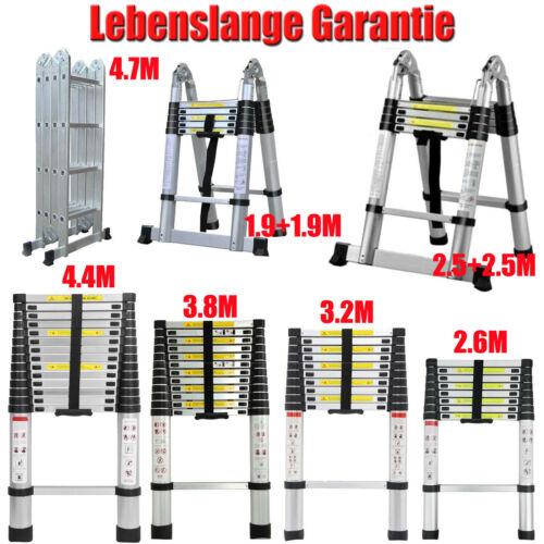 Alu Teleskopleiter Multifunktionsleiter Klappleiter Stehleiter Hauptdachboden De
