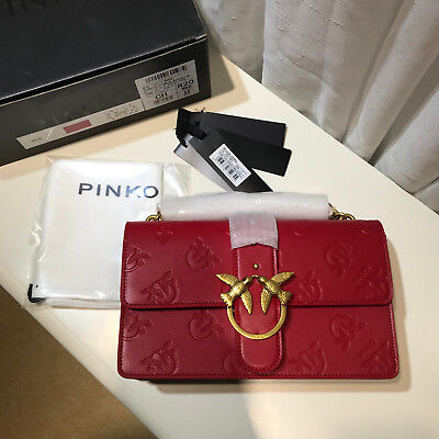 PINKO love imprime tracolla Shoulder bags red sales.