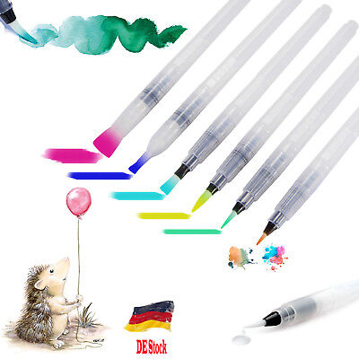 Aquarell Pinsel (Brush Pen Set Wasserfarben Pinselstift Wassertankpinsel Stifte Aquarellpinsel DE)