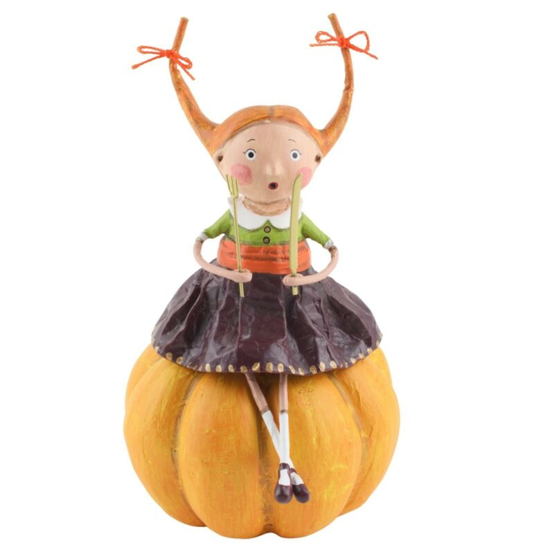 Lori Mitchell Prissy Pumpkin Eater Thanksgiving Figure Figurine Fall Autumn