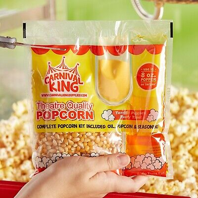 24-pack All-in-one Large Butterfly Popcorn Kit For 8 Oz. To 10 Oz. Poppers