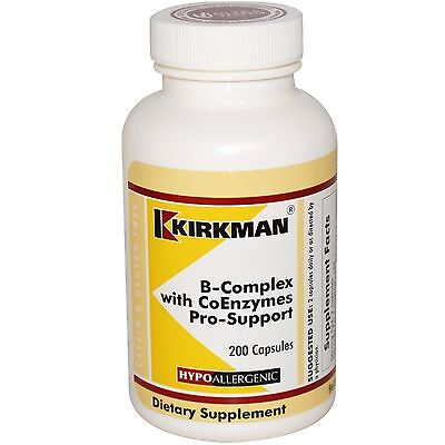 Support-200 Caps (B-Complex with CoEnzymes Pro-Support, 200 Caps - Kirkman Labs)