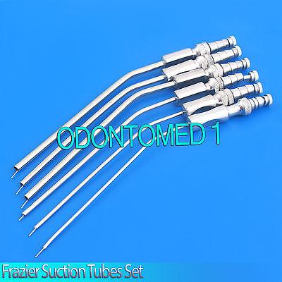 6 Frazier Suction Tubes Set 67891112 Fr Non Magnet Surgical Instrument