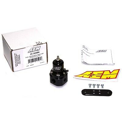 AEM UNIVERSAL HIGH CAP BILLET FUEL PRESSURE REGULATOR FPR 25-305BK -6AN 9/16-18