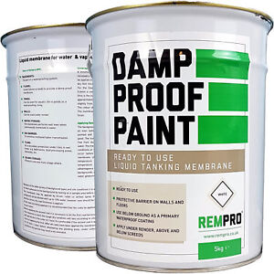 REMPRO 5KG WHITE DPM DAMP PROOF PAINT LIQUID FOR WATER PROOFING WALLS & FLOOR
