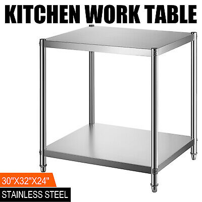 24x30 Stainless Steel Kitchen Work Prep Table Bench Commercial Restaurant