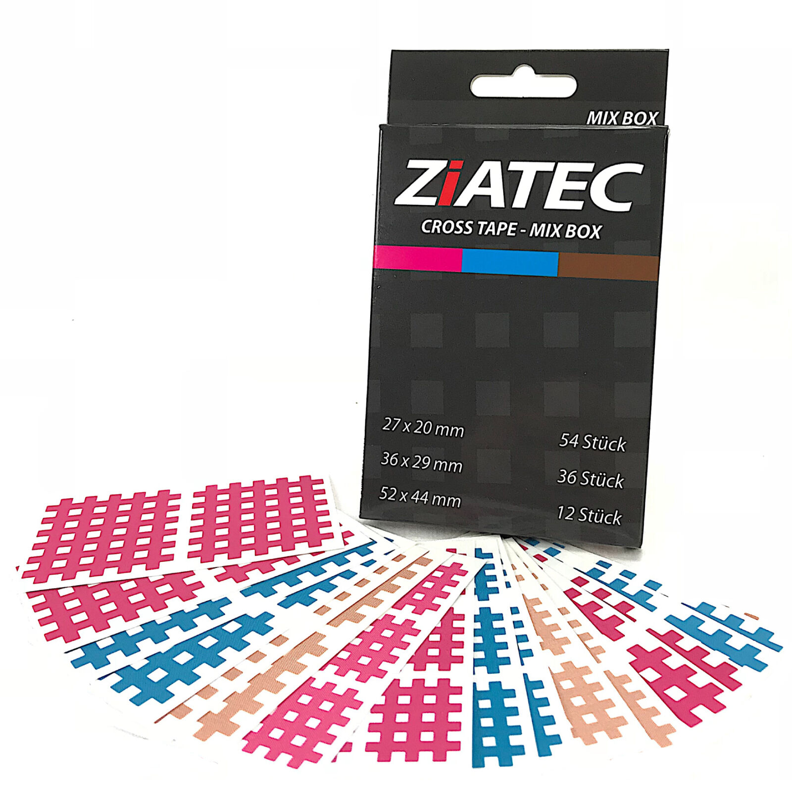 Ziatec Cross-Tape-Pflaster,Gittertapes,Akupunktur-Pflaster,Physio-Tape,Crossling