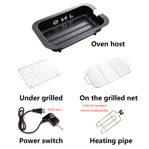 Indoor BBQ Electric Grill Barbecue Smokeless