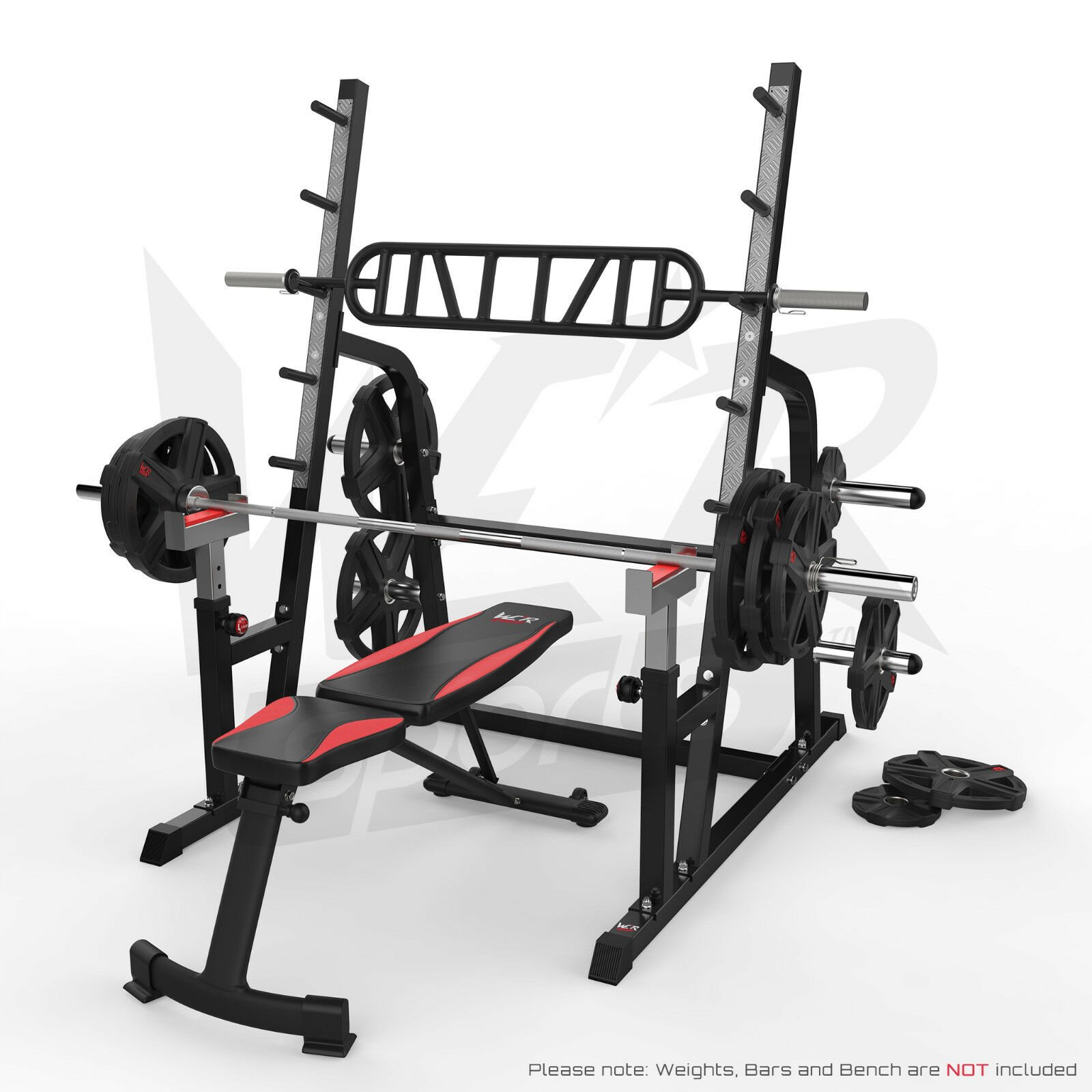 Olympic Squat Rack Adjustable Power Bench Press Barbell Stand Weight Lifting Eur 199 99