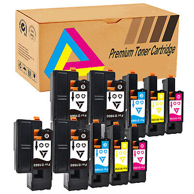 Multipack 1250 Toner Cartridge Combo Lot for Dell Laser C1760nw C1765nfw C1765nf