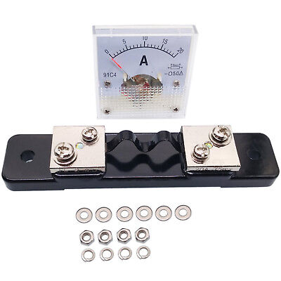 US Stock DC 0~20A Analog AMP Current Pointer Needle Panel Meter Ammeter & Shunt