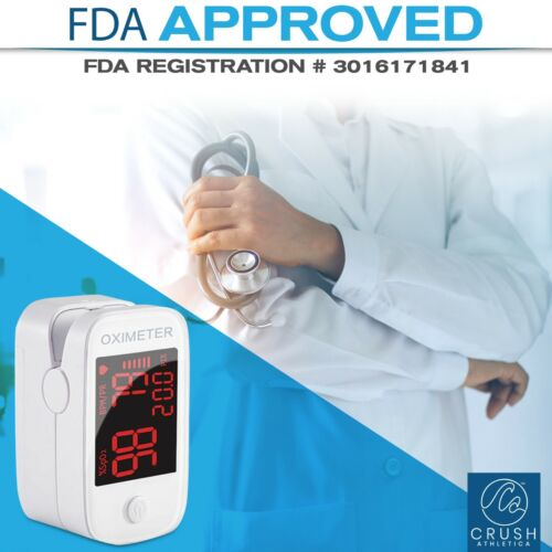 FDA Approved Finger Pulse Oximeter - Blood Oxygen Monitor -SpO2- SHIPS SAME DAY!