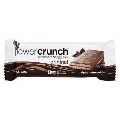 Bar Triple Chocolate (Power Crunch Bar - Triple Chocolate - Box of 12 - 1.4 oz)