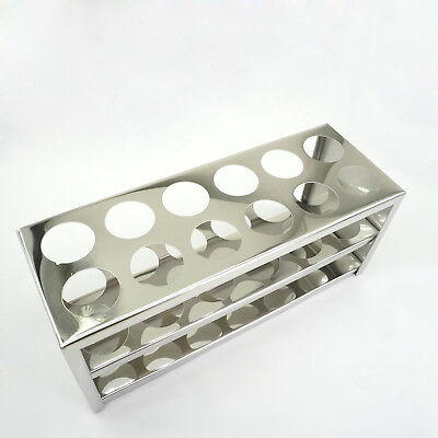 30mm Diam X 12 Holes Stainless Steel Test Tube Rack Holder Storage Lab Stand