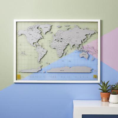 Scratch Map Transparente Luckies Grande Viaje Rasguño Bola Del Mundo Pared Mapa