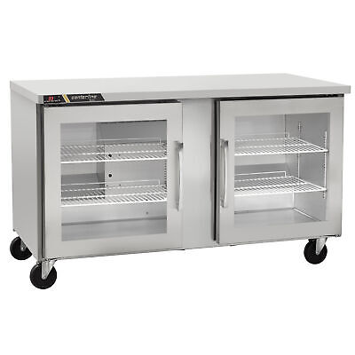 Traulsen Cluc-36r-gd-rr 36 Two Section Glass Door Undercounter Refrigerator