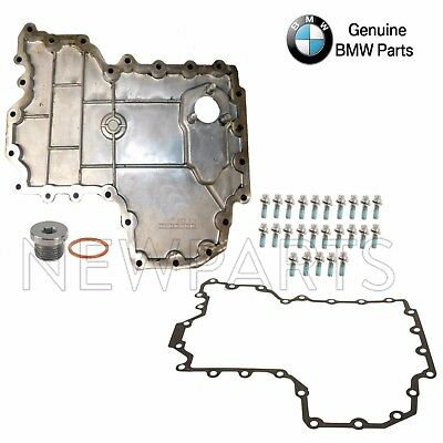 BMW E70 E71 Lower Engine Oil Pan with Drain Plug & Seal and Gasket + Bolts Kit