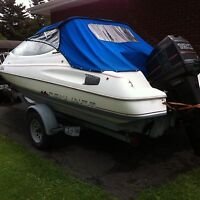1990 bayliner Capri 19.5 ft with a 120 hp outboard
