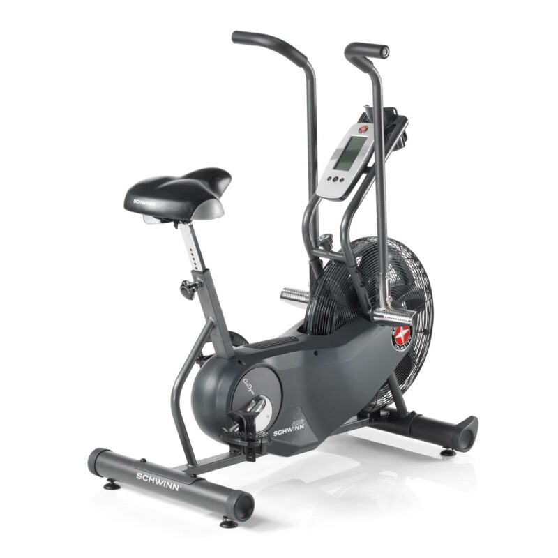 Schwinn Fitness Airdyne AD6 Air Resistance Home Workout Stationary Exercise Bike