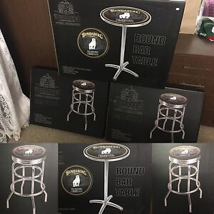 Bundaberg Rum Official Round Bar Table & Two Stools Andergrove Mackay City Preview