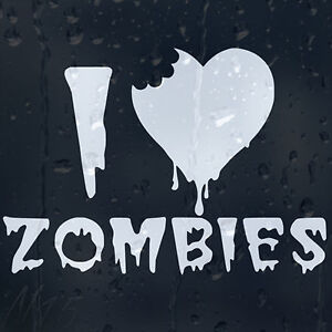 I-Love-Zombies-Outbreak-Response-Team-Car-Window-Laptop-Wall-Decal-Vinyl-Sticker