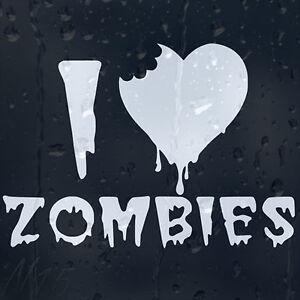 I-Love-Zombies-Outbreak-Response-Team-Car-Window-Laptop-Wall-Decal-Vinyl-Sticker