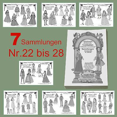 7 Sammlungen Nr. 22 bis 28 - Schnittmuster Mittelalter Historische Kostüm - 7.3