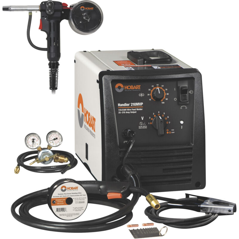 Hobart Handler 210MVP Flux-Core/MIG Wire-Feed Welder
